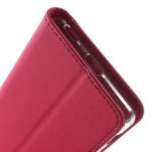Wall PU kožené pouzdro na mobil Sony Xperia M5 - rose - 7