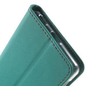Wall PU kožené pouzdro na mobil Sony Xperia M5 - zelenomodré - 7