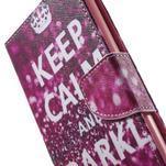 Stand peněženkové pouzdro na Sony Xperia M5 - Keep Calm - 7/7