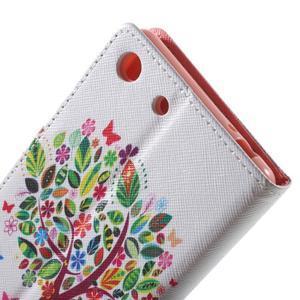 Stand peněženkové pouzdro na Sony Xperia M5 - květinový strom - 7
