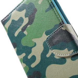 Stand peněženkové pouzdro na Sony Xperia M5 - kamufláž - 7