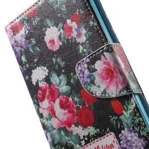 Stand peněženkové pouzdro na Sony Xperia M5 - kvetoucí růže - 7