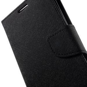 Goos PU kožené penženkové pouzdro na Sony Xperia M5 - černé - 7