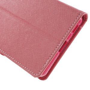 Goos PU kožené penženkové pouzdro na Sony Xperia M5 - růžové - 7