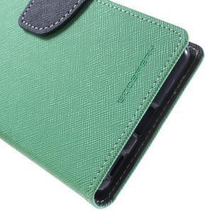 Goos PU kožené penženkové pouzdro na Sony Xperia M5 - cyan - 7