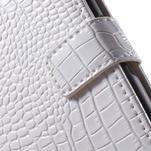 Croco peněženkové pouzdro na mobil Sony Xperia M5 - bílé - 7/7