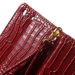 Croco peněženkové pouzdro na mobil Sony Xperia M5 - červené - 7/7
