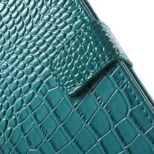 Croco peněženkové pouzdro na mobil Sony Xperia M5 - modré - 7