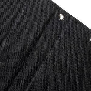 Canvas PU kožené / textilní pouzdro na Sony Xperia M5 - černé - 7