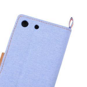 Jeans peněžnkové pouzdro na mobil Sony Xperia M5 - světlemodré - 7