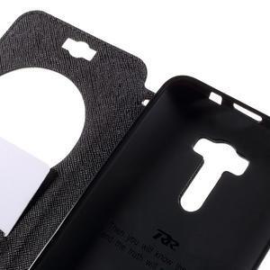 Peněženkové pouzdro s okýnkem na Asus Zenfone Selfie ZD551KL - černé - 7