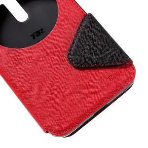 Peněženkové pouzdro s okýnkem na Asus Zenfone Selfie ZD551KL - červené - 7