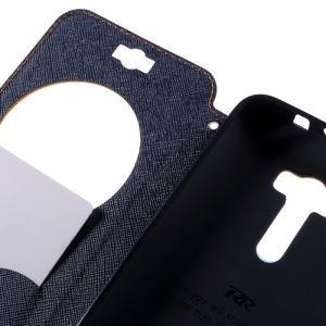 Peněženkové pouzdro s okýnkem na Asus Zenfone Selfie ZD551KL - oranžové - 7