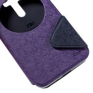 Peněženkové pouzdro s okýnkem na Asus Zenfone Selfie ZD551KL - fialové - 7