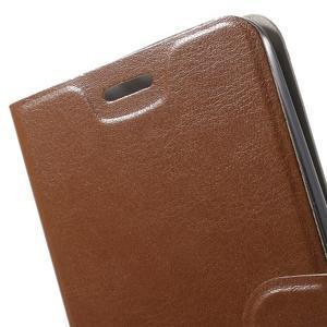 Horse peněženkové pouzdro na Asus Zenfone Selfie ZD551KL - hnědé - 7
