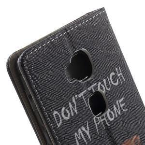 Emotive PU kožené pouzdro na mobil Honor 5X - nedotýkat se - 7