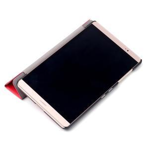 Trifold polohovatelné pouzdro na tablet Huawei MediaPad M2 8.0 - červené - 7