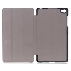Trifold polohovatelné pouzdro na tablet Huawei MediaPad M2 8.0 - hnědé - 7
