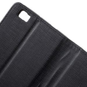 Clothy PU kožené pouzdro na mobil Huawei P8 Lite - černé - 7