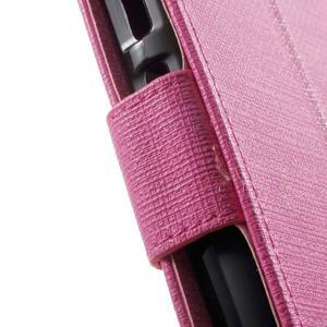 Clothy PU kožené pouzdro na mobil Huawei P8 Lite - rose - 7