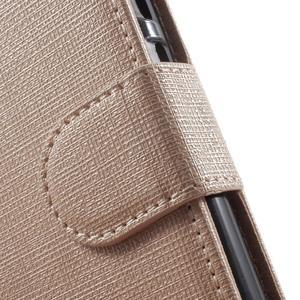 Clothy PU kožené pouzdro na mobil Huawei P8 Lite - champagne - 7