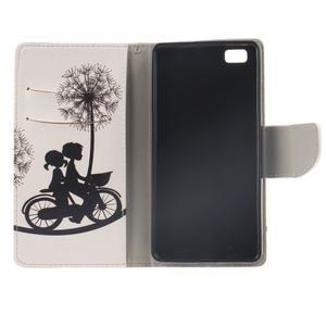 Leathy PU kožené pouzdro na Huawei P8 Lite - láska na kole - 7