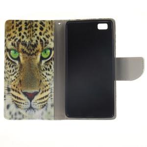 Leathy PU kožené pouzdro na Huawei P8 Lite - gepard - 7