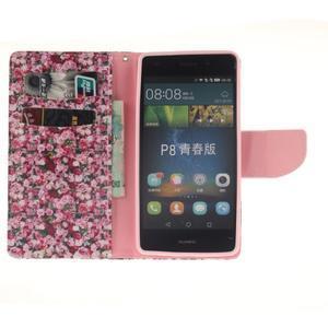 Leathy PU kožené pouzdro na Huawei P8 Lite - růže - 7