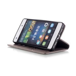 Magicfly PU kožené pouzdro na Huawei P8 Lite - šedé - 7