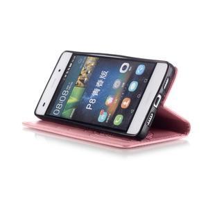 Magicfly PU kožené pouzdro na Huawei P8 Lite - růžové - 7