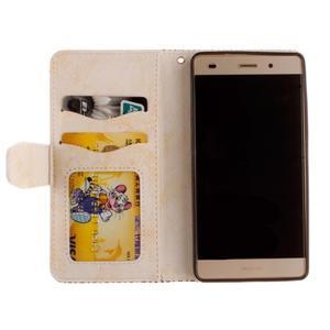 Mandala PU kožené pouzdro na mobil Huawei P8 Lite - béžové - 7