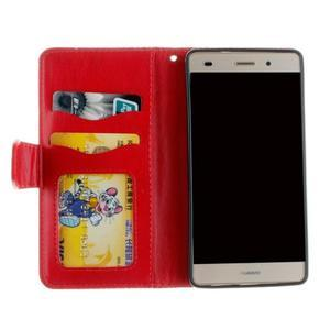 Mandala PU kožené pouzdro na mobil Huawei P8 Lite - červené - 7
