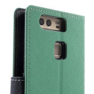 Diary PU kožené pouzdro na mobil Huawei P9 - azurové - 7