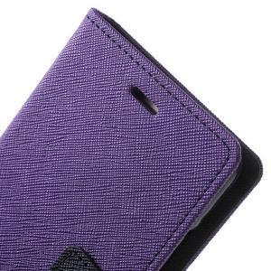Diary PU kožené pouzdro na mobil Huawei P9 - fialové - 7
