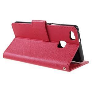 Easy peněženkové pouzdro na mobil Huawei P9 Lite - červené - 7