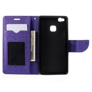 Easy peněženkové pouzdro na mobil Huawei P9 Lite - fialové - 7