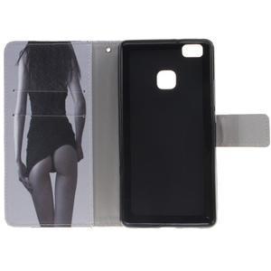Floaty peněženkové pouzdro na mobil Huawei P9 Lite - sexy dívka - 7