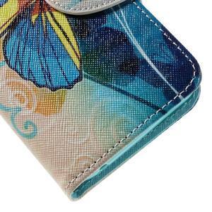Emotive PU kožené pouzdro na Huawei Y5 - modrý motýl - 7