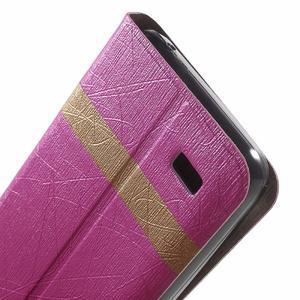 Lines knížkové pouzdro na Huawei Y5 a Y560 - rose - 7