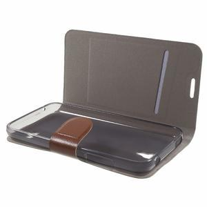 Horse peněženkové pouzdro na mobil Huawei Y5 a Y560 - hnědé - 7