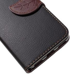 Leaf PU kožené pouzdro na mobil Huawei Y6 - černé - 7