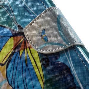 Emotive pouzdro na mobil Huawei Y6 - modrý motýl - 7