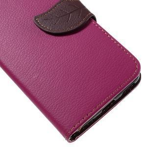 Leaf PU kožené pouzdro na mobil Huawei Y6 - rose - 7