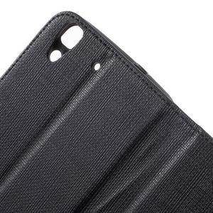 Clothy PU kožené pouzdro na Huawei Y6 - černé - 7