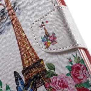 Emotive pouzdro na mobil Huawei Y6 - květiny a Eiffelka - 7