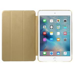 Trifold trojpolohové pouzdro na tablet iPad mini 4 - zlaté - 7