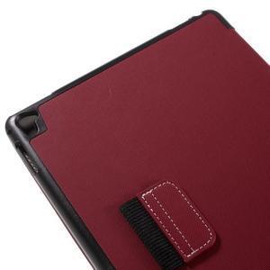 Clothy PU textilní pouzdro na iPad Pro 9.7 - červené - 7