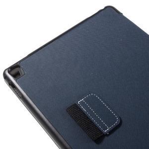 Clothy PU textilní pouzdro na iPad Pro 9.7 - tmavěmodré - 7