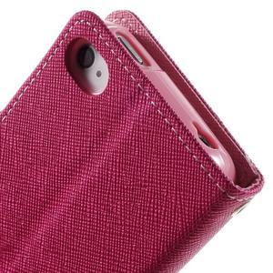 Fancys PU kožené pouzdro na iPhone 4 - rose - 7