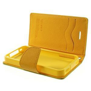 Fancys PU kožené pouzdro na iPhone 4 - zelené - 7